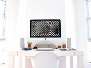 minimal web design office, γραφείο προγραμματιστή